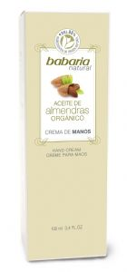 Babaria Organic Almond Oil Hand Cream 100ml | Mia Beauty Ltd